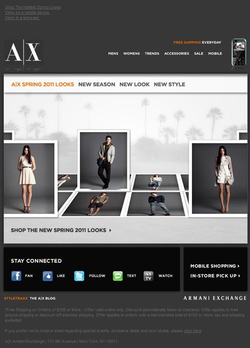 时尚的电子邮件设计