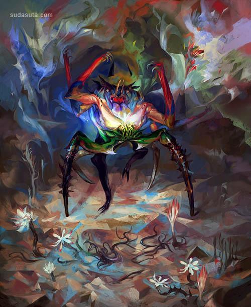 Véronique Meignaud 描绘魔法的插画