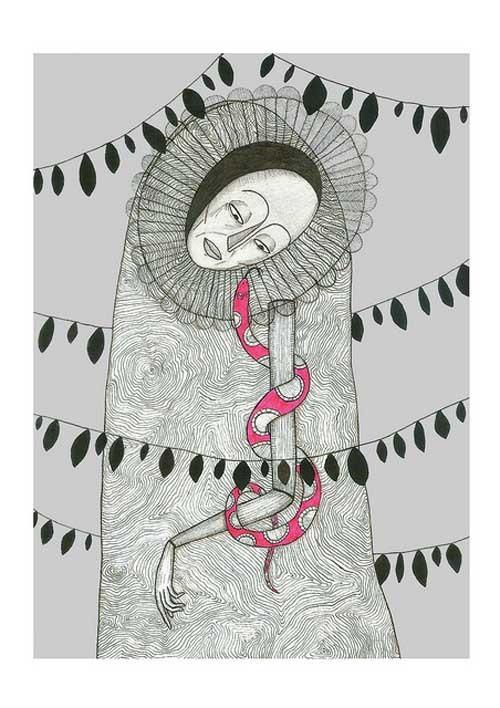 Pedro Lucena 线条插画作品欣赏