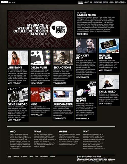 35个css布局的非常漂亮的网页设计