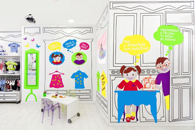 Piccino 室内设计欣赏 西班牙童装店