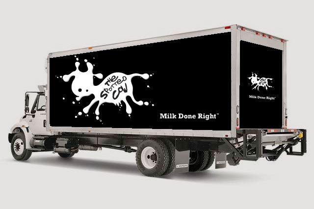可爱的牛奶品牌设计