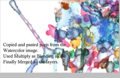 Photoshop 制作抽象水彩壁纸