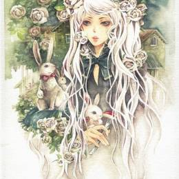 爱丽丝的童话 淡色水彩漫画