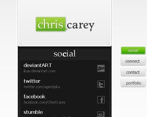15个非常酷的html电子名片设计