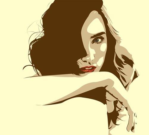 40张非常漂亮的Vexel矢量美女插图