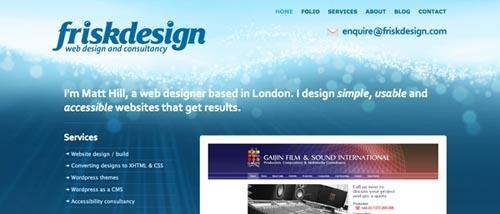 绚烂光斑网页设计欣赏