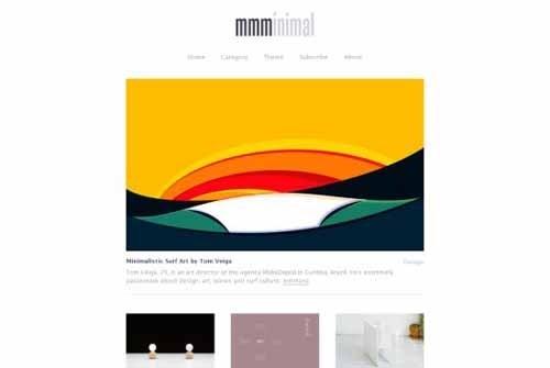 极简主义网页设计欣赏