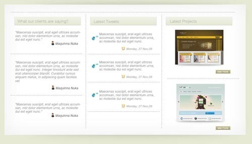 在photoshop中创建一个简洁风格的网页效果图