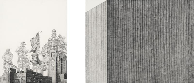 赟—武    YUN(赟)— Military             pencil,  paper   50 x 40cm  50 x 60cm    2010