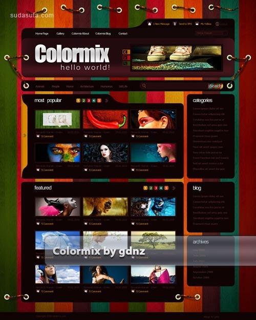 40个高质量的网页设计效果图