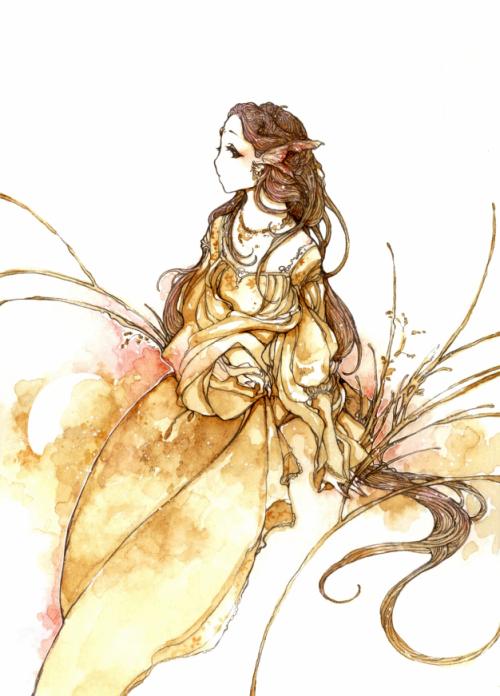 katarina-san 细腻的水彩插画