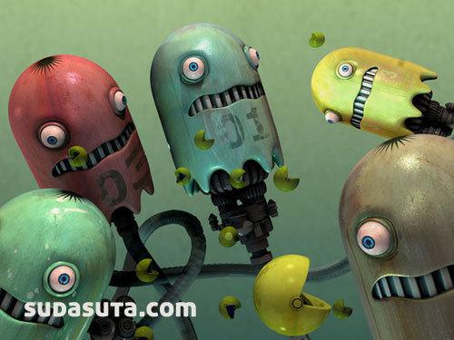 来自Jonathan Ball非常优秀的3D卡通角色设计