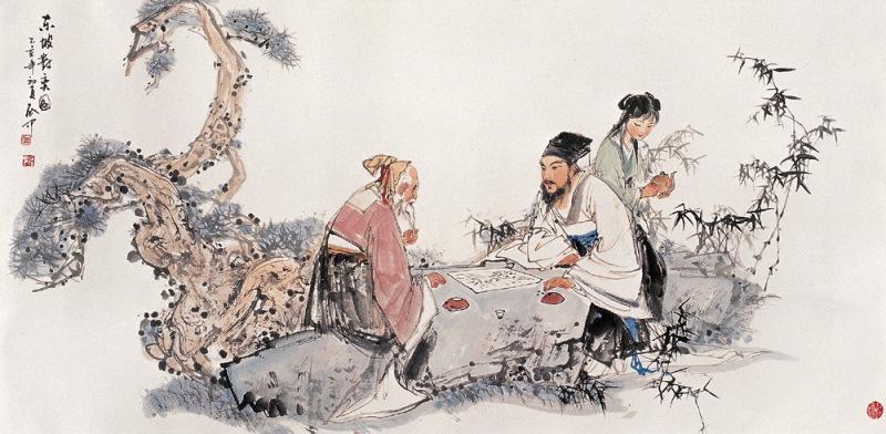 伍启中传统中国风山水水墨画欣赏