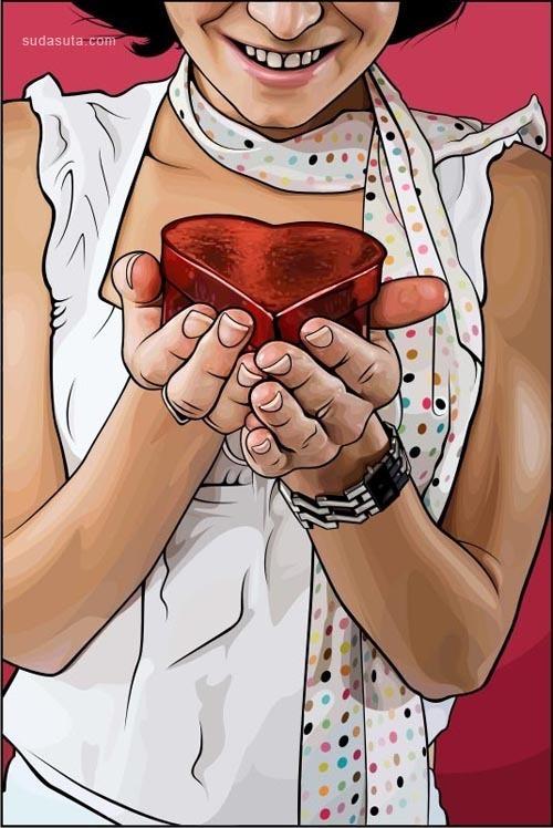25张非常可爱的情人节矢量插画作品