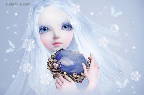 为Lydia Courteille珠宝品牌设计的广告