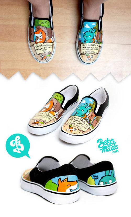 Bobsmade 手绘帆布鞋设计