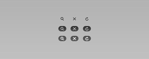 """""""刷新"""",""""关闭""""和""""搜索""""按钮http://365psd.com/day/58/"""
