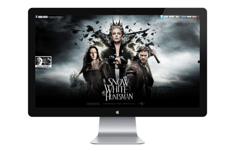 Justin Carrol 电影宣传网站设计欣赏