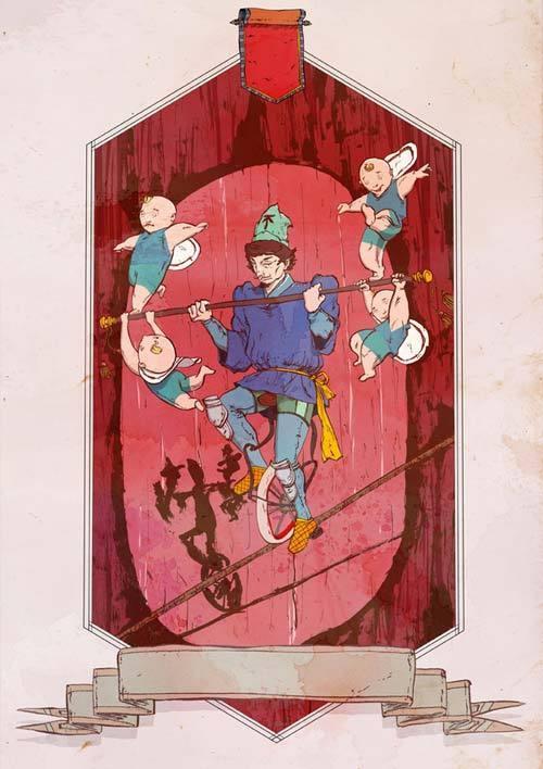 HINK 手绘塔罗牌设计