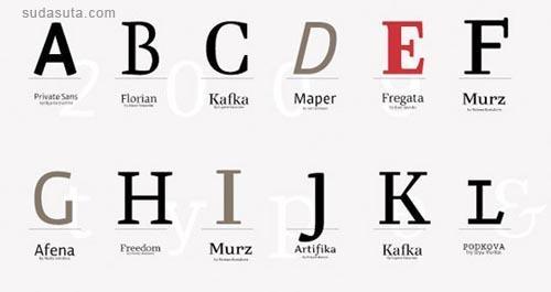 10个最新的英文字体免费下载