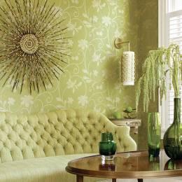 复古碎花墙纸室内设计主题