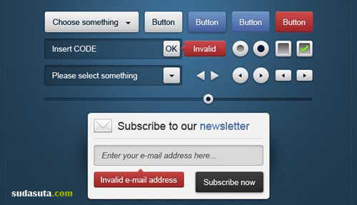 5套免费的PSD网页控件分享