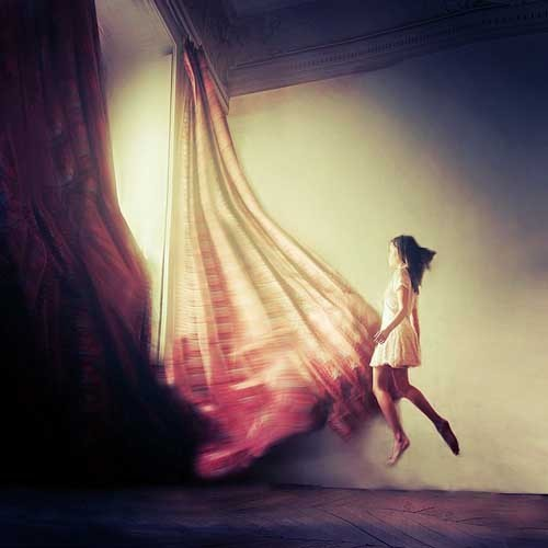 Julie de Waroquier 寂寞的小调子 超现实主义摄影