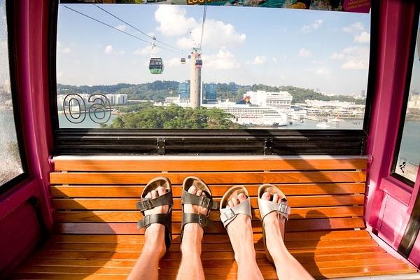 缆车。圣淘沙岛 新加坡。