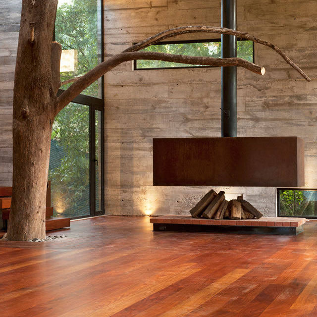 Freestanding Fireplace by Paz Arquitectura