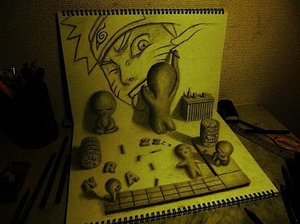 Nagai Hideyuki创意3D铅笔画