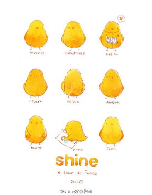 代号Shine小萌雀 清新可爱手绘插画欣赏