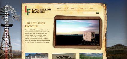 应用了大图片背景的网站设计