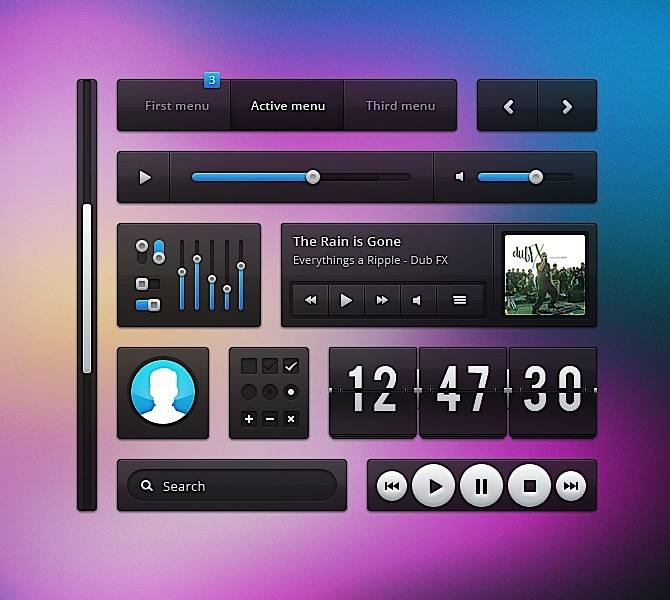 http://www.designkindle.com/2012/05/07/transparent-ui-kit/