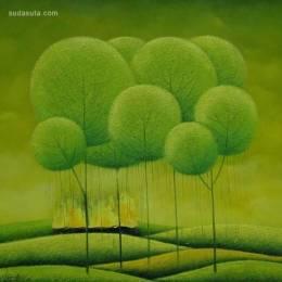 越南艺术家Vu Cong Dien绘画作品欣赏