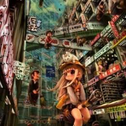 John Hathway 未来城市与美少女 全景透视插画欣赏