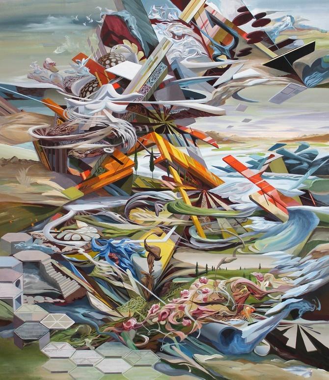 Oliver Vernon 抽象插画欣赏