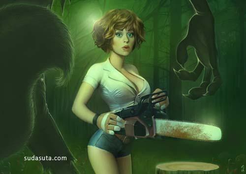 来自Serge Birault的美女CG插画
