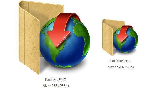 红色与布朗的文件夹图标下载<br /> http://iconbug.com/detail/icon/1565/red-download-with-brown-folder/