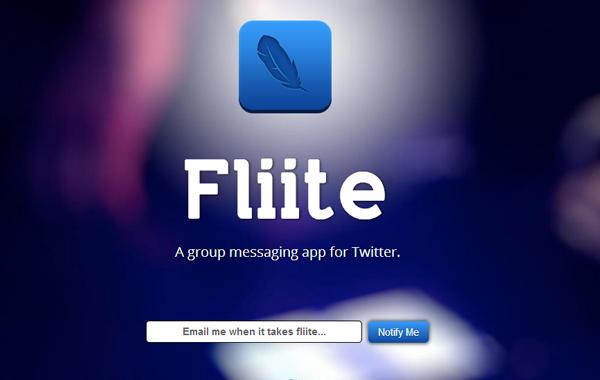 Fliite website landing page mobile ios app