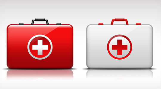 First-Aid medical kit icon<br /> http://www.graphicsfuel.com/2012/05/first-aid-medical-kit-icon-psd/