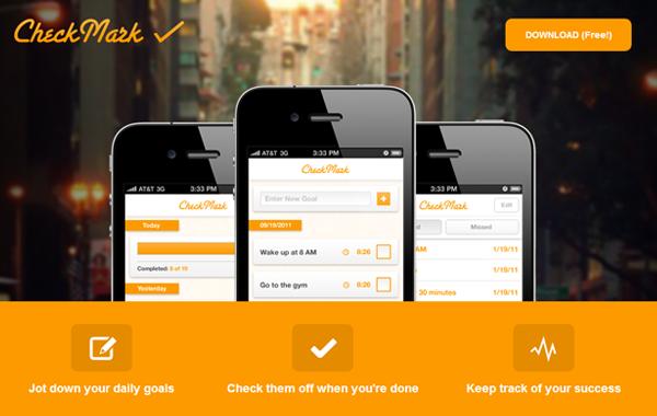 checkmark app ios iphone landing page