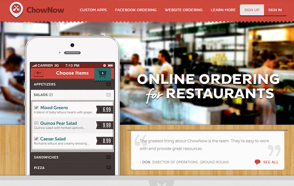 recipe cooking mobile app ios landing page