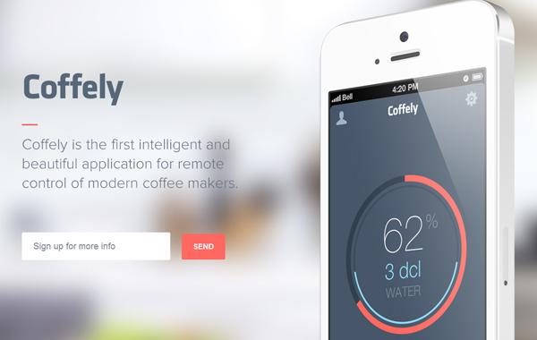 mobile iphone ios app website landing page