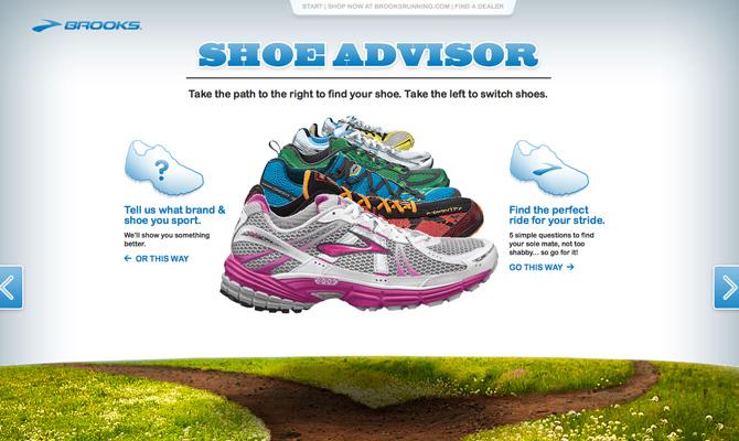 Brooks Shoe Advisor<br /> http://brooksrunning.com/shoeadvisor