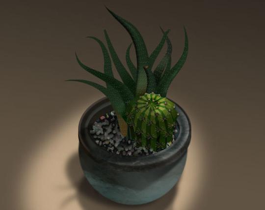 3D仙人掌绘制<br /> http://www.photoshop3d.com/organic/3d-cactus