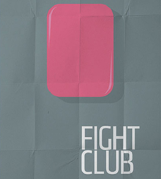 Fight Club by Pedro Vidotto<br /> http://cargocollective.com/vidotto/minimal-poster