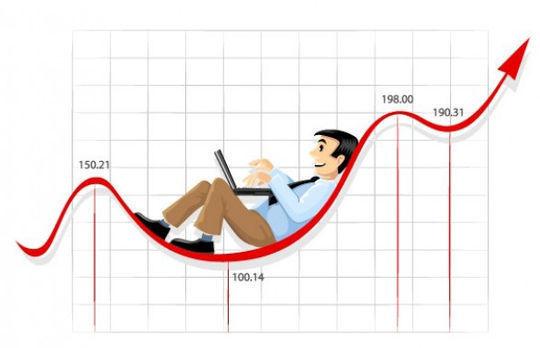 货币走势线的商人<br /> http://www.freepik.com/free-vector/businessman-working-on-the-currency-chart-line_397696.htm
