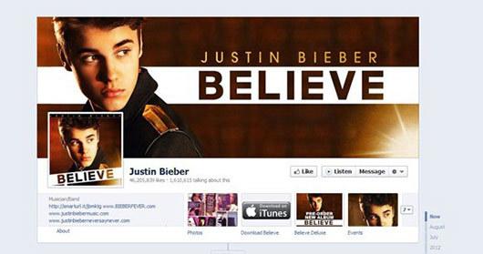 Justin Bieber<br /> http://www.facebook.com/JustinBieber