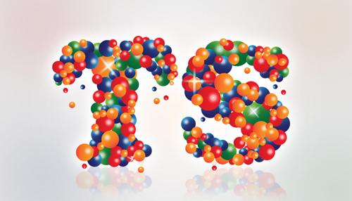 在Illustrator和Photoshop创建一个彩球文字效果<br /> http://tutorials-share.com/2012/03/create-colorful-balls-text-effect-illustrator-photoshop/